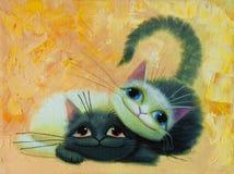 dwa koty Obraz Stock