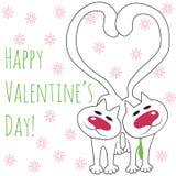 dwa koty kochają wektora Obraz Stock