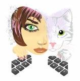 dwa koty ilustracja wektor