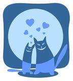 dwa koty szczęśliwi ilustracja wektor