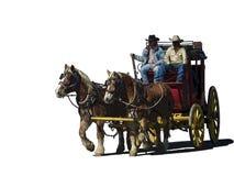 Dwa kowboja na stagecoach clipart royalty ilustracja