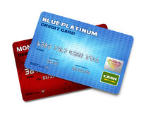 Dwa Kredytowej karty royalty ilustracja