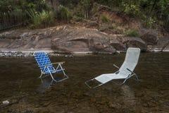 Dwa krzesła czeka ludzi Zdjęcia Royalty Free