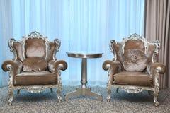 Dwa krzesła w baroku stylu Obrazy Stock
