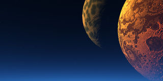 dwa księżyca Zdjęcia Royalty Free