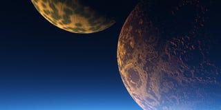 dwa księżyca ilustracja wektor