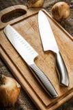 Dwa Kuchennego noża Zdjęcia Royalty Free
