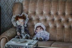 dwa lali na kanapie obraz stock