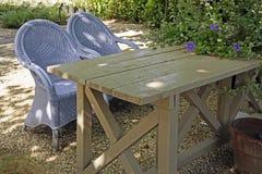 Dwa lawendowego krzesła Zdjęcie Royalty Free