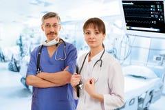 Dwa lekarki w szpitalu fotografia royalty free