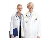 Dwa lekarki z stetoskopem Obraz Royalty Free