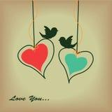 Dwa ślicznego serca Fotografia Stock