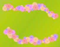 Kwiaty na zielonej trawy tle Zdjęcia Stock