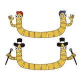 Dwa lobworms Zdjęcie Stock