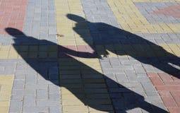 Dwa ludzie cienia Zdjęcia Stock