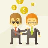 Dwa mężczyzna opowiada o biznesie, biznes Zdjęcie Stock