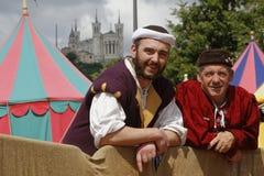 Dwa mężczyzna podczas fety De Los angeles Renesans Zdjęcie Royalty Free