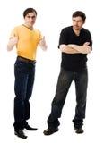 Dwa mężczyzna pomyślny i nieudacznik, zdjęcia stock