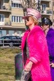 Dwa mężczyzna w kolorowych futerkach Zdjęcia Royalty Free