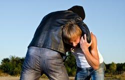 Dwa mężczyzna walczą walczyć. Obraz Royalty Free