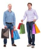 Dwa mężczyzna z torba na zakupy Zdjęcie Stock