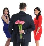 Dwa młodej kobiety i jeden homoseksualista Fotografia Royalty Free