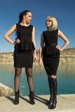 Dwa młodej pięknej dziewczyny Fotografia Stock