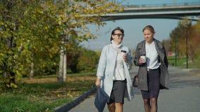 Dwa młodych kobiet Opowiadać i odprowadzenie zbiory