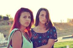 Dwa młodej dziewczyny Obrazy Royalty Free