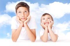 Dwa młodszego brata Zdjęcie Royalty Free
