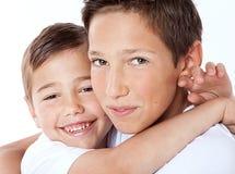 Dwa młodszego brata Zdjęcia Royalty Free