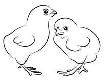Dwa Małego kurczątka ilustracja wektor