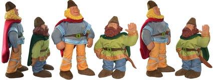 Dwa Małego norwegu gnomu - zabawki Zdjęcia Stock