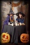 Dwa małej czarownicy Obrazy Royalty Free
