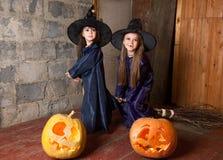 Dwa małej czarownicy Obraz Stock