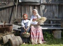 Dwa małych dziewczynek rocznika fotografia Obraz Royalty Free