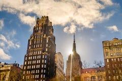 Dwa Manhattan punktu zwrotnego budynku zdjęcia royalty free