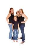 Dwa matki i dwa córki Zdjęcia Royalty Free