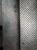Dwa metalu panelu z różnicą i cieniami, diamentowy kształta wzoru powtarzać obraz royalty free