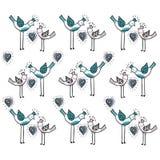 Dwa miłość ptaka z sercem są częścią piękny ornament który tworzy projekta wzór pocałunek miłości człowieka koncepcja kobieta Wek ilustracja wektor