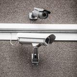Dwa miastowej kamery bezpieczeństwa Zdjęcia Stock