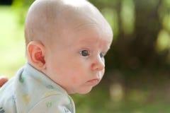 Dwa miesięcy Stary dziecko Outside Obraz Royalty Free