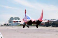 Dwa Mig 29 jerzyka przyśpieszającego Obraz Royalty Free