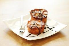 Dwa migdałowego torta Zdjęcia Royalty Free