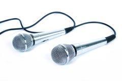 dwa mikrofony Zdjęcie Stock