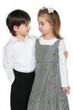 Dwa mody dziecka obrazy stock