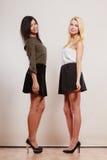 Dwa mody kobiety afrykanin i caucasian pozować Obraz Royalty Free