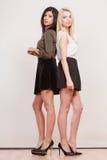 Dwa mody kobiety afrykanin i caucasian pozować Fotografia Royalty Free