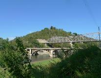 Dwa mosta w Ozark górach obrazy stock