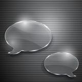 Dwa mowa bąbla od szkła Zdjęcia Royalty Free